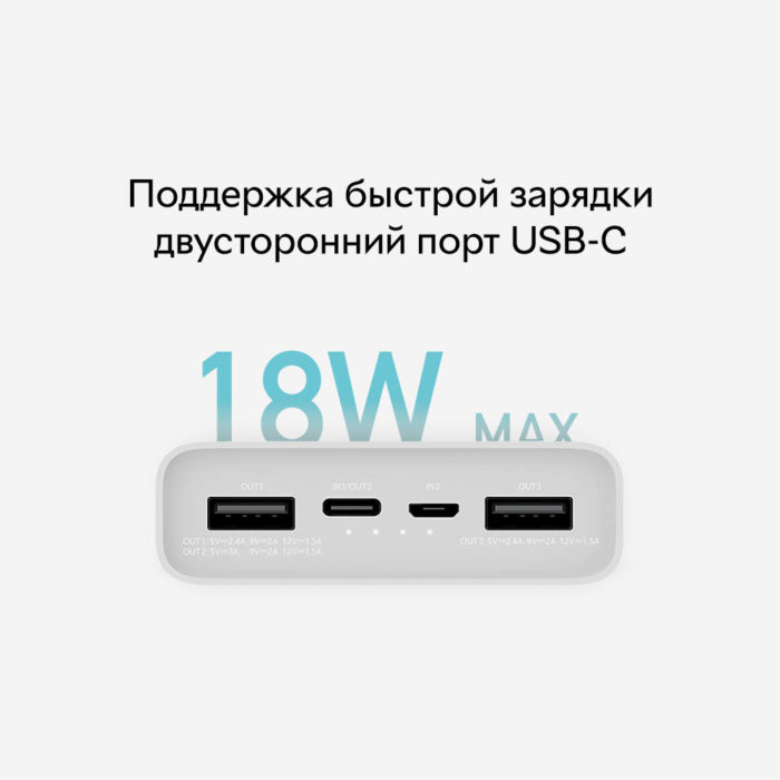 Xiaomi Mi Power Bank 3 20000 mAh Type-C (PLM18ZM)
